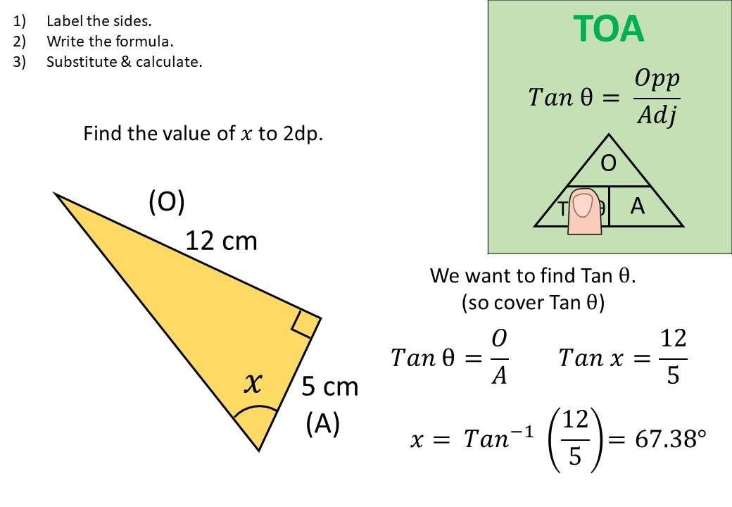 Trigonometry - Tangent - Angles - Demonstration