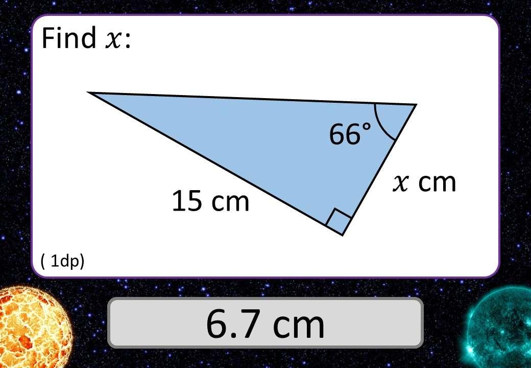 Trigonometry - Tangent - Lengths - 3 Stars