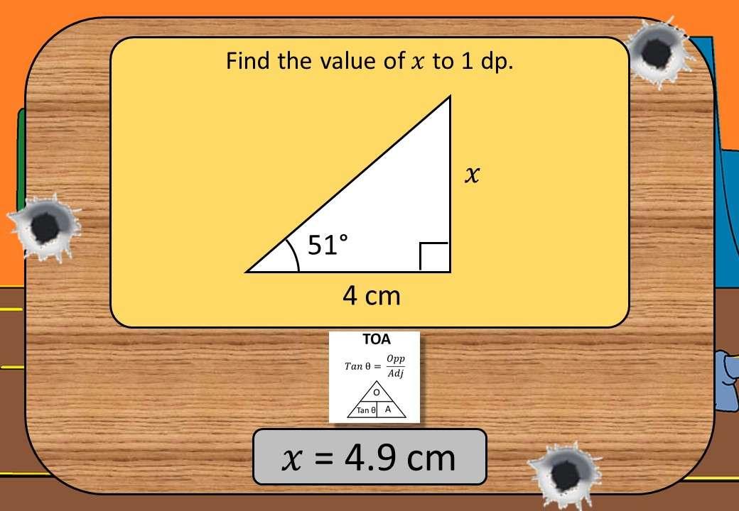 Trigonometry - Tangent - Lengths - Shootout