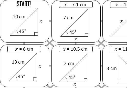 Trigonometry - Without a Calculator - Answer Maze