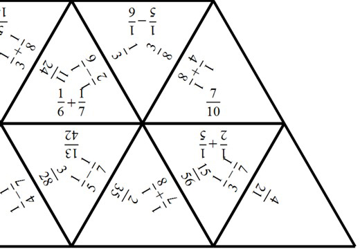 Unit Fractions - Adding & Subtracting - Tarsia