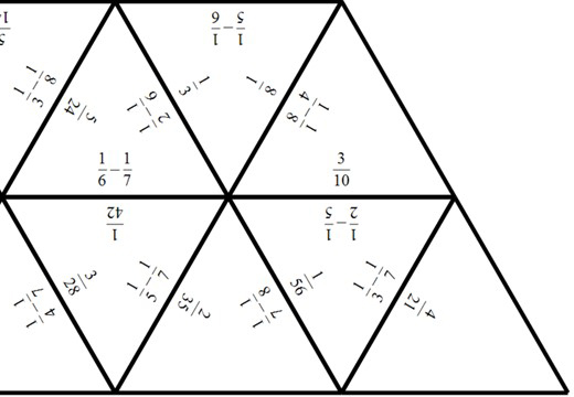 Unit Fractions - Subtracting - Tarsia