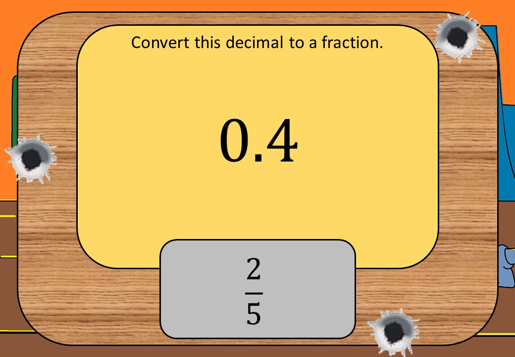 Converting Decimals to Fractions & Percentages - Shootout