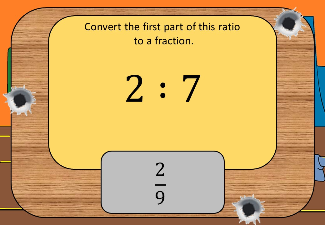 Converting Ratios to Fractions & Percentages - Shootout