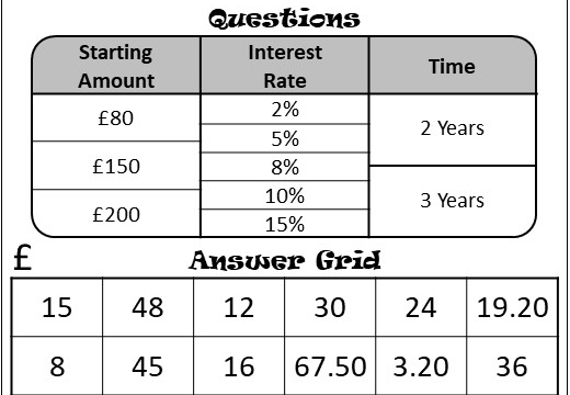 Simple Interest - Calculator - Four in a Row