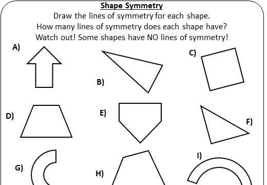 Symmetry - Worksheet A